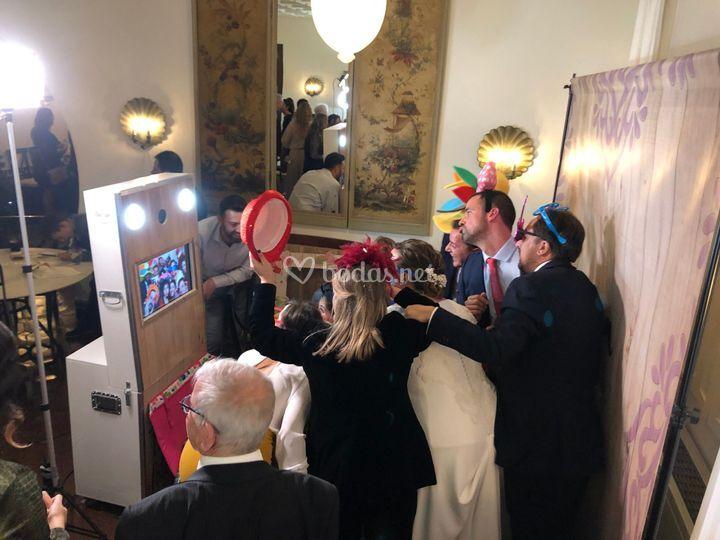 Recuerdo divertido de la boda