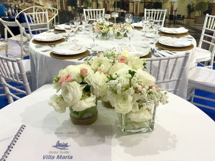 Detalle decoración floral