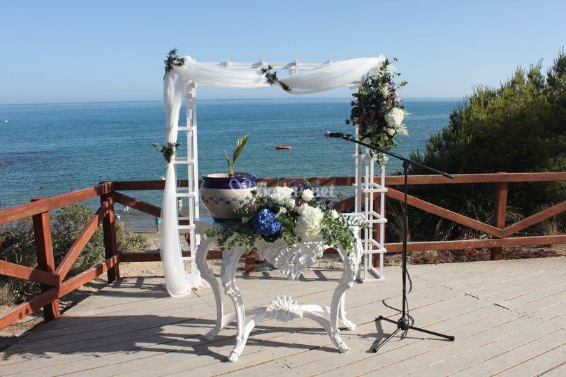 Montaje de la ceremonia
