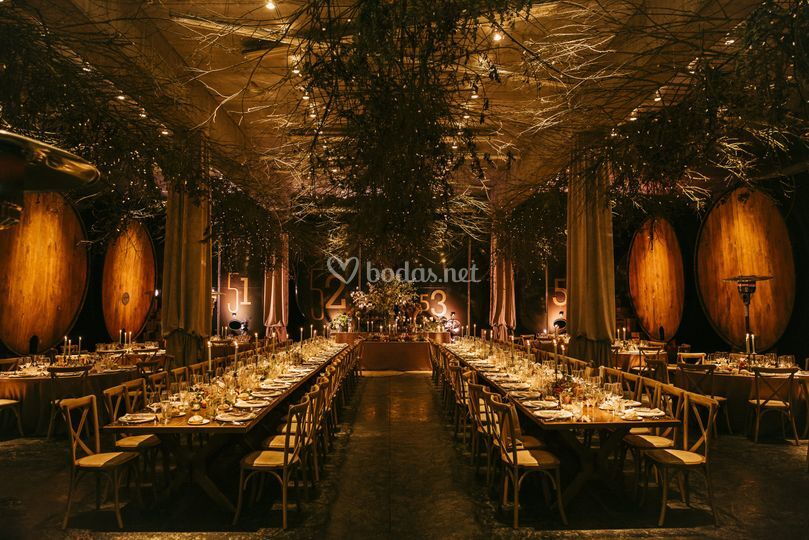 Salón montado para boda