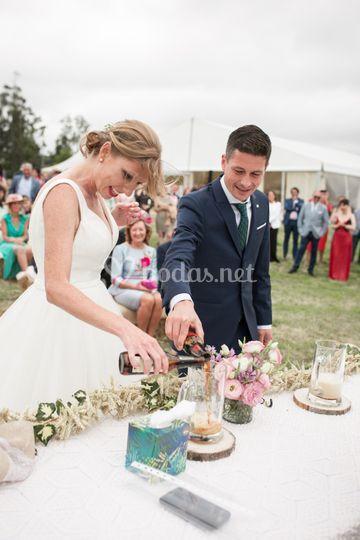 Momento en la ceremonia