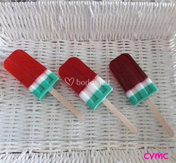 Jabones con forma de helado