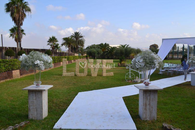 Bienvenida para boda civil