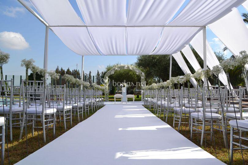 Entoldado y boda civil