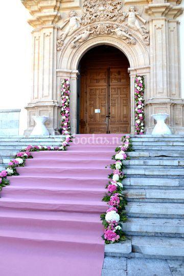 Decoración escalinata