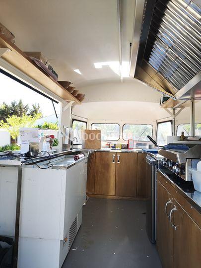 Interior food truck