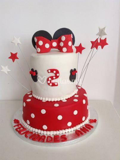 Tarta cumpleaños Minnie