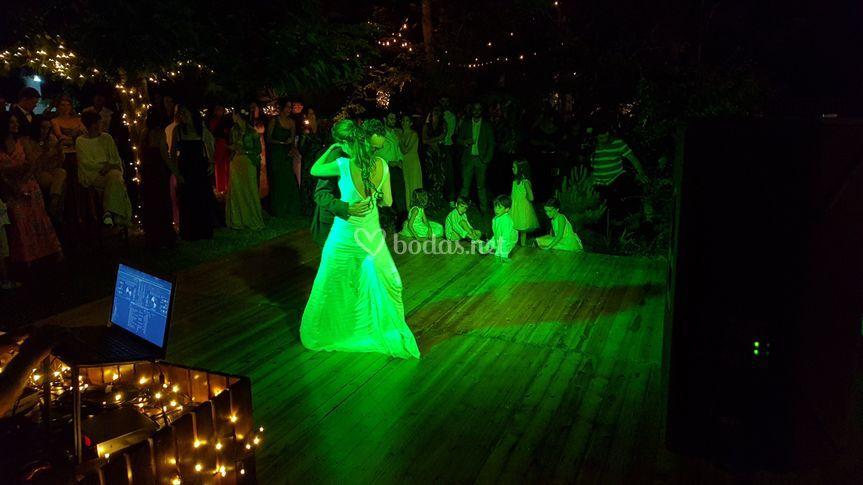 Pista de baile de madera