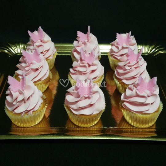 Cup cakes mariposas
