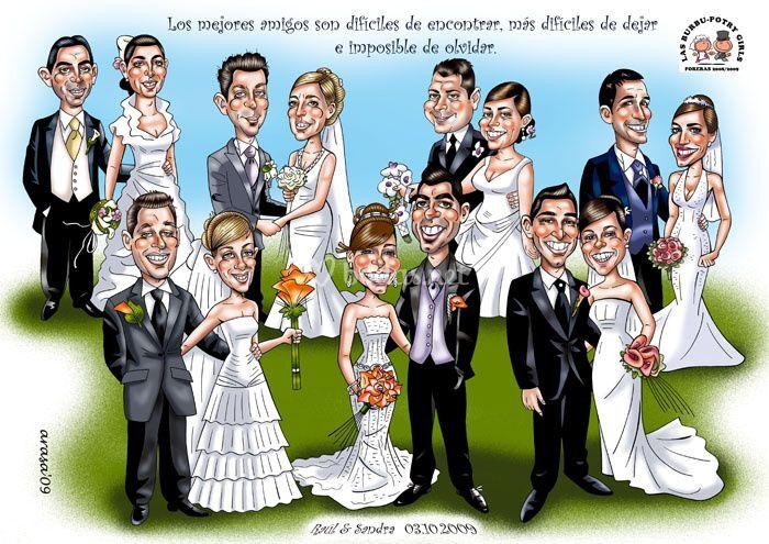 Caricatura digital de grupo