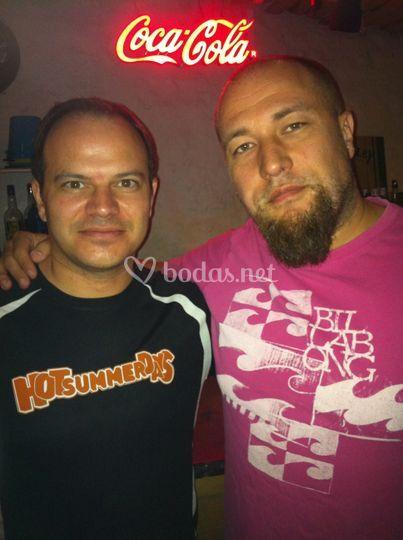 Nuestro DJ Jose con Raul Ortíz