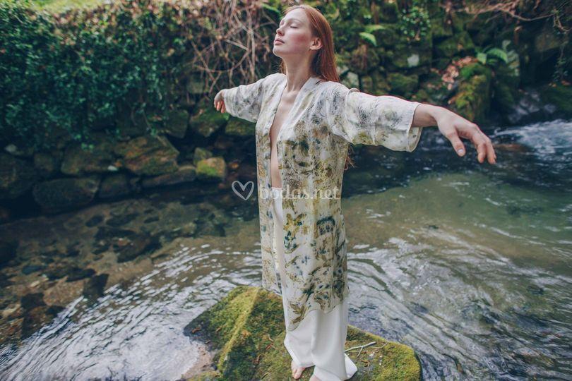 Kimono de la colección novia