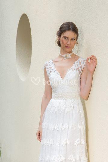 Vestido de novia Boho bordado