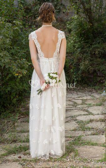 Espalda escotada de novia