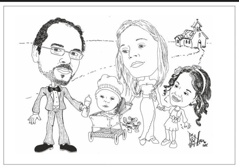 Caricatura de familia