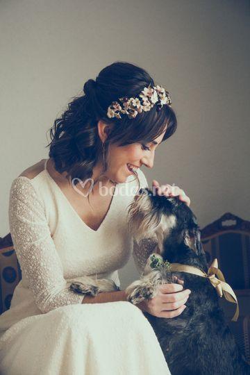 Novia y su perrito