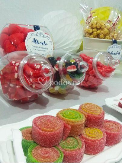 Detalle de candy bar express