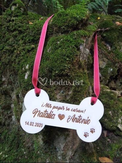 Cartel de mascota boda