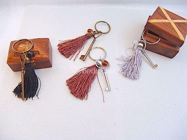 Llaveros llave/flecos