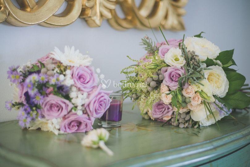 Bouquet de novia más ramo para tirar