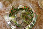 Decoraci�n en las mesas de Mas�a Papiol