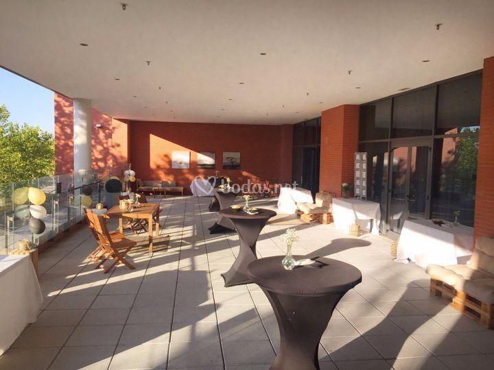 Montaje cocktail terraza