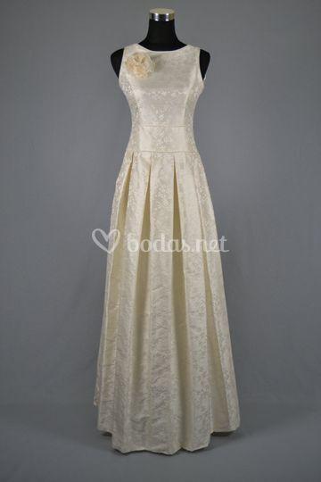 Vestido de novia en guipúr