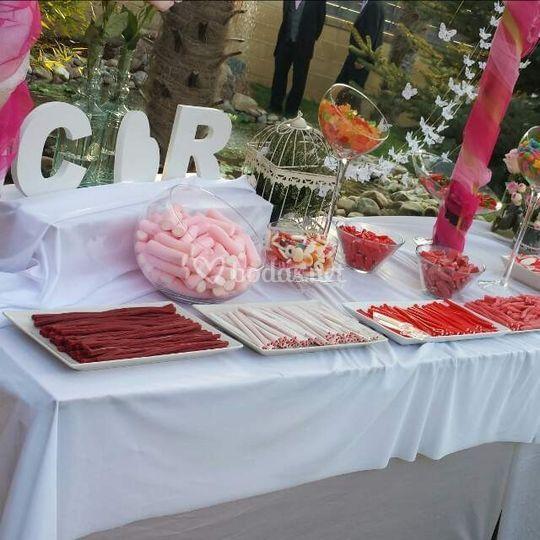 Mesa dulce de bodas