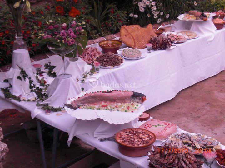 Buffet libre por catering