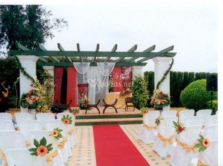 Montaje para ceremonias