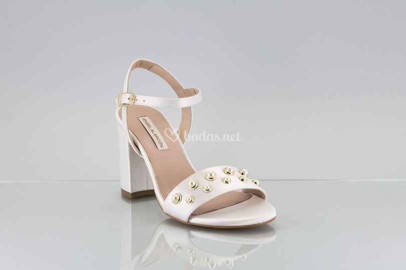 Zapato novia 2018 perla sandal