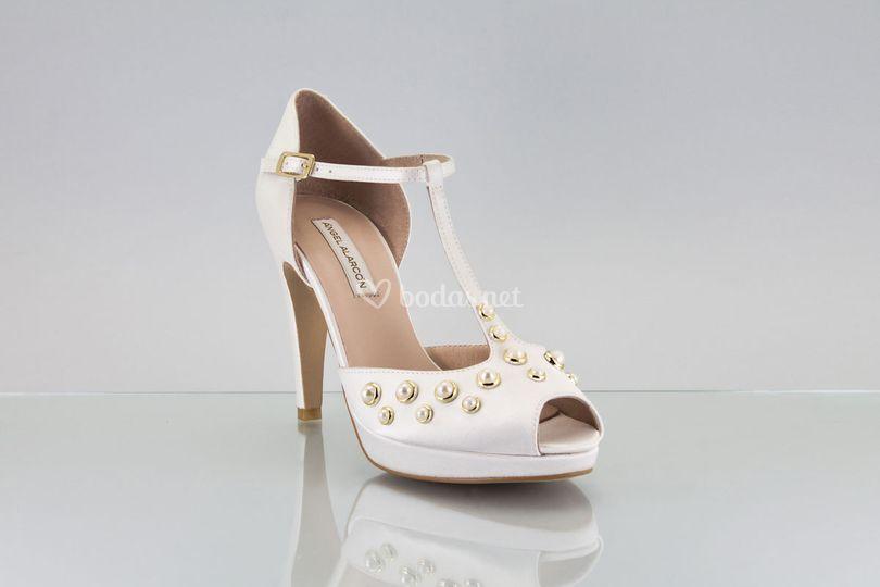 Zapato novia 2018  perla