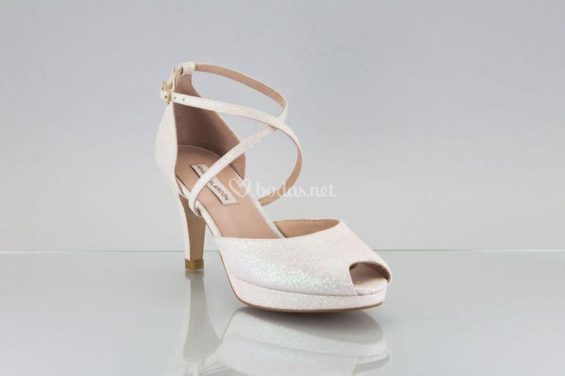 Zapato novia 2018 tiras cruzad