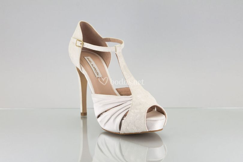Zapato novia 2018  t-strap
