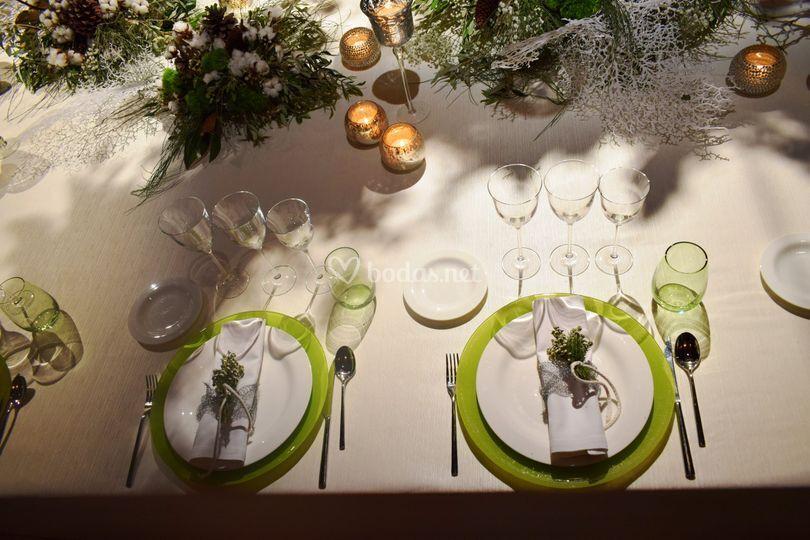 Detalle boda invierno