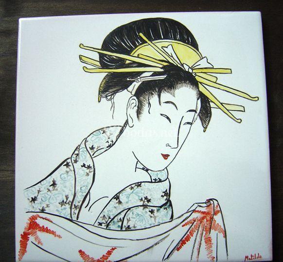 Azulejo 20 x 20  Japonesa
