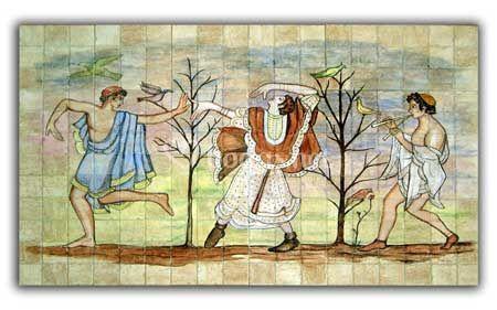 Mural, reproduc Etruscos