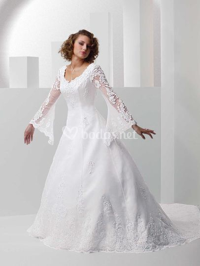 Vestido novia talla grande de Novia España