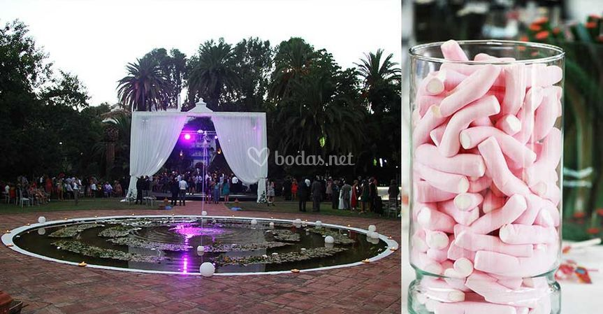 Escenario y candy bar