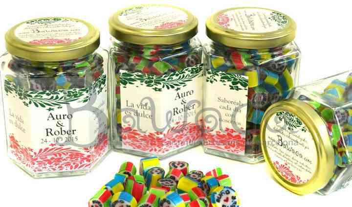 Caramelos personalizados boda