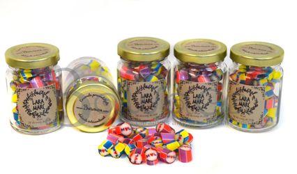 Caramelos con las iniciales