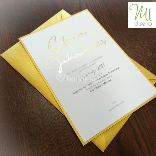 Invitación oro
