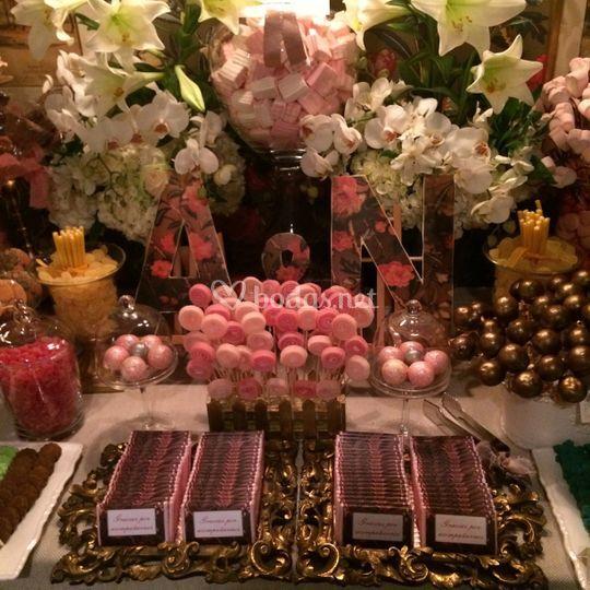 Sweet dorado y rosa