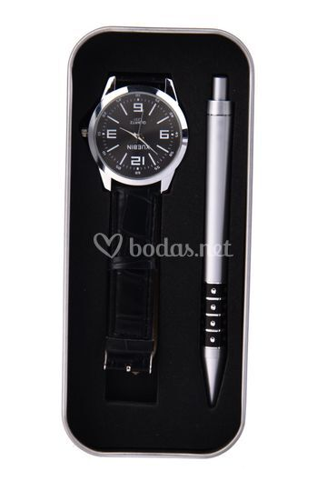 Set bolígrafo+reloj caballero