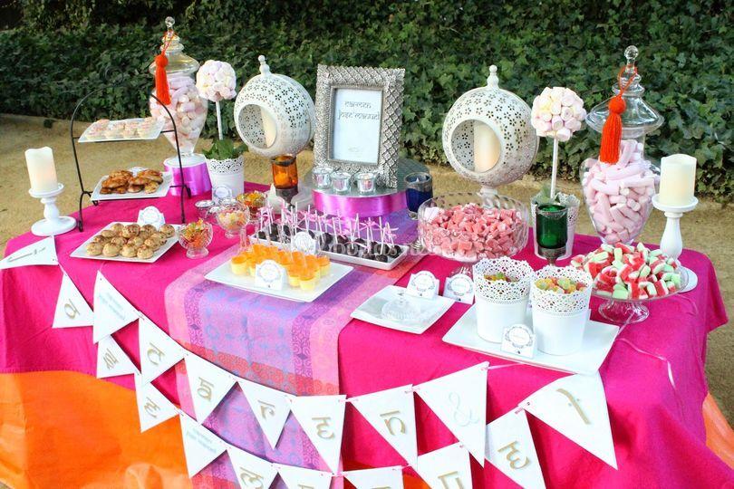 Mesa dulce inspiración árabe