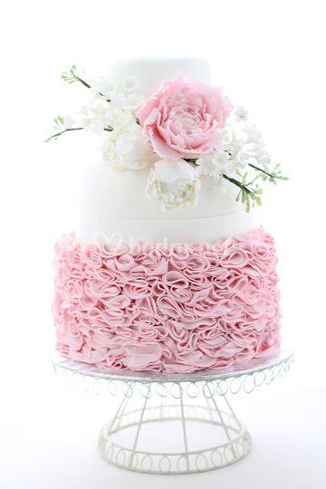 Tarta de boda romántica