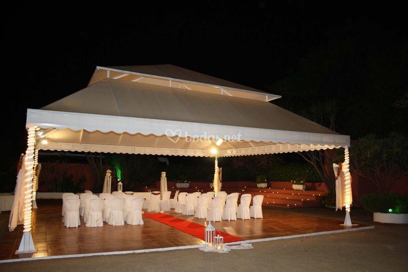 Ceremonia civil de noche