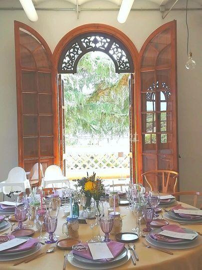 Banquete con color