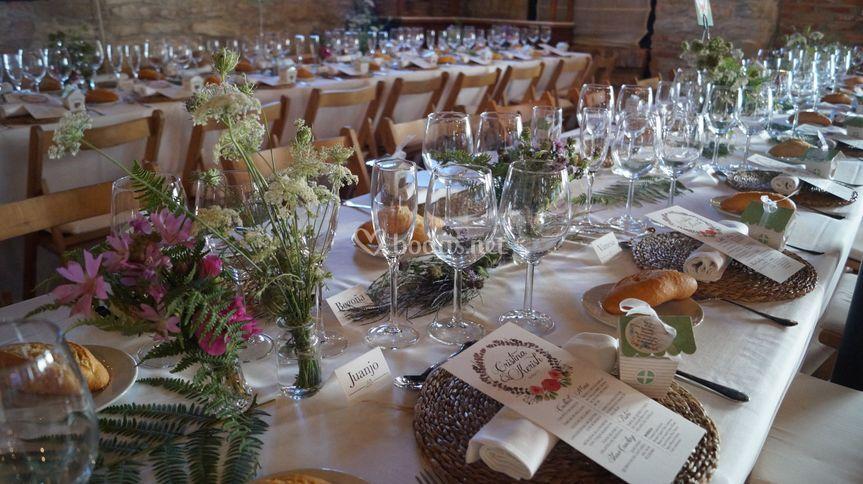 Montaje de boda en el comedor