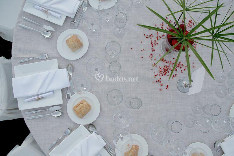 Detalle mesa eventos